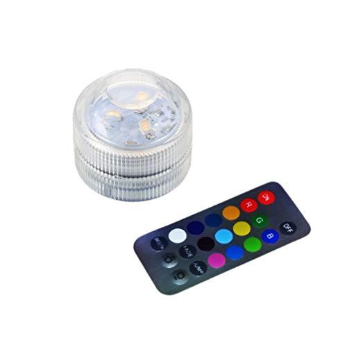 Uonlytech - Lámpara de buceo LED, impermeable, multicolor, con mando a distancia, para piscina RGB, para bodas, acuarios de peces