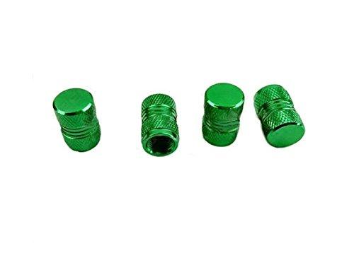 Sunnyshinee Durable 4 Pcs De Voiture en Aluminium Valve Caps Hexagon Vis Fuites De Couvercle De Valve Cap Tire (Vert) Couvertures de Casquettes