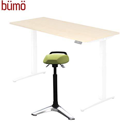BÜMÖ® Stehhilfe für elektrisch verstellbaren Schreibtisch | Professioneller Stehstuhl höhenverstellbar | Stuhl für Stehtisch Counterstuhl Kassenstuhl Stehstuhl in grün
