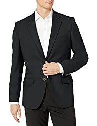 cheap Amazon Essentials Men's Regular Fit Long Sleeve Stretch Blazer Black 44