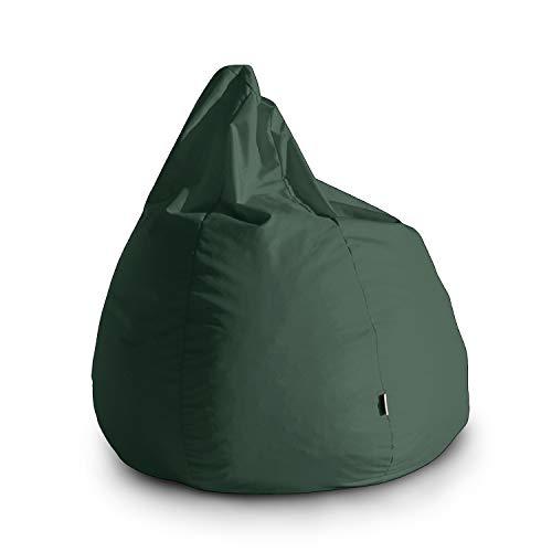 Avalon Pouf Poltrona Sacco Grande Bag L Jive 80x80x100cm Made in Italy in Tessuto antistrappo Imbottito Colore Verdone