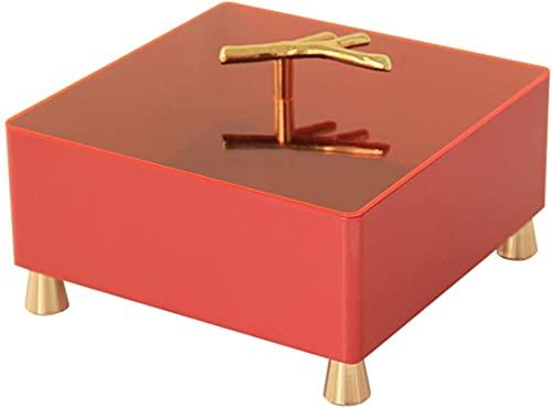 WHXL Caja de almacenamiento Joyería, Caja de almacenamiento de Sundies con tapa Caja de almacenamiento a prueba de prósperas Snack, llave de entrada Cosmética simple Caja de joyería simple