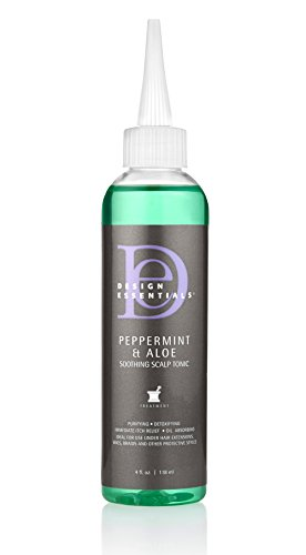 Design Essentials Peppermint & Aloe Lotion tonique apaisante pour cuir chevelu et peau pour soulager instantanément les démangeaisons du cuir chevelu - 118 g