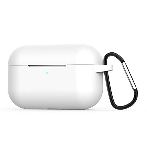 para AirPods Pro Funda Coque Earpods para Airpod Pro Funda para Apple Air Pods Pro Earbud Caja de Carga Funda Etui-Blanco