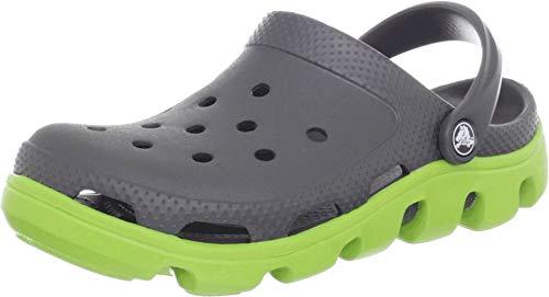 Crocs Duet Sport Clog 11991-0A1-184, Unisex - Erwachsene Clogs, Grau (Graphite/Volt Green), 39-40 EU