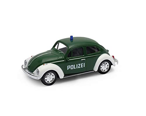 Welly-OOTB Original lizenziert VW Volkswagen Käfer, Beetle Polizei-Auto Modell-Auto DDR Maßstab 1:45 Modell Auto, Sammlerstück