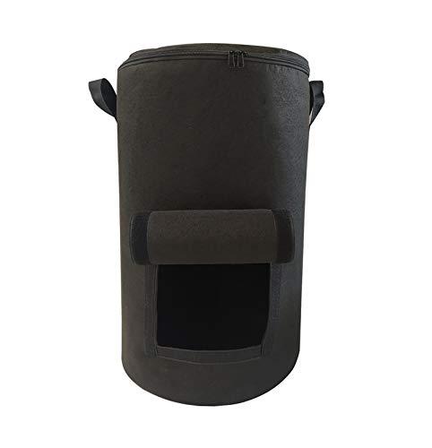 GHKSDLJFGDF Umweltkompostbeutel,Kompostbeutel, gartenabfallsackVlieskompostbeutel Laubsack -Schwarz 35x60cm