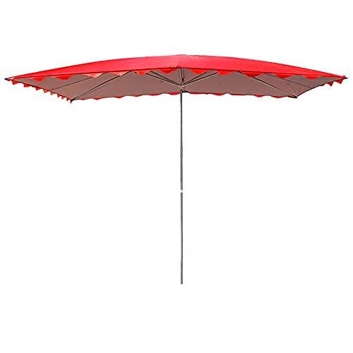 WYZQ Comercial de Estilo Europeo con Seis Varillas, sombrilla de Playa portátil Grande, sombrilla Plegable a Prueba de Lluvia, sombrilla de Patio de Doble propósito, para Tiendas, Jardines, 2.0x1.5M,