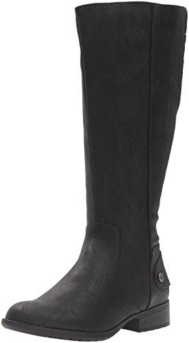 LifeStride Women's Xandywc Riding Boot- Wide Calf, Black, 8 M US