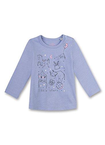 Sanetta Baby-Mädchen 114038 Langarmshirt, Blau (Sky Blue 5981), 80