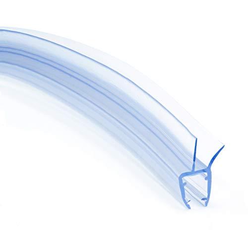 DQ-PP Duschdichtung 100cm | Dichtung für 6mm – 8mm Glastür Stärke | UKG03 | Wasserablaufprofil Wasserabweisprofil | Duschkabinen Duschabdichtung Duschwand | Ersatzteile für Duschkabine | Transparent