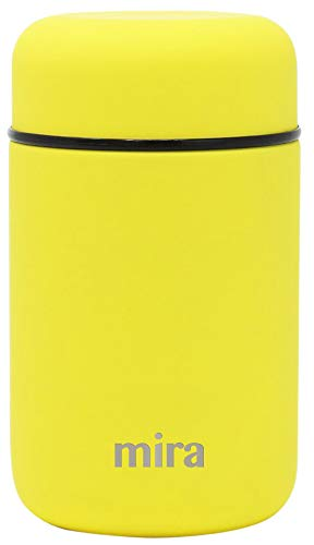 MIRA Lunch, Food Jar - Vacuum Insulated Stainless Steel Lunch Thermos - 13.5 oz - Lemon Yellow