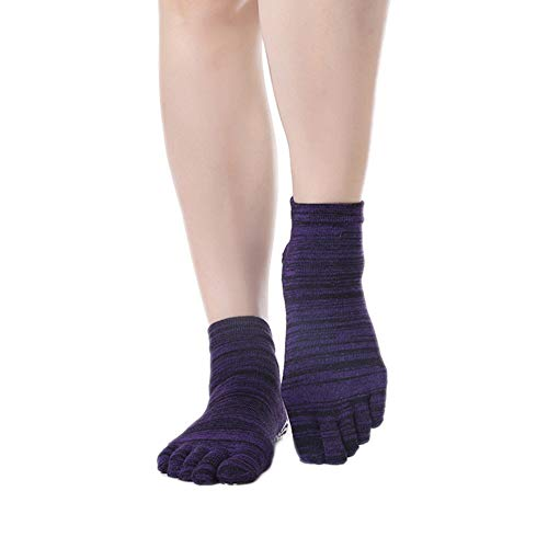 Demarkt rutschfeste Yoga Socken für Damen, Ideal für Pilates, Outdoor Sport Workout Strümpfe mit rutschfesten Gummisohlen, Full Fußbodensocken
