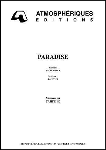 PARADISE (Les nuits fauves) (partition)