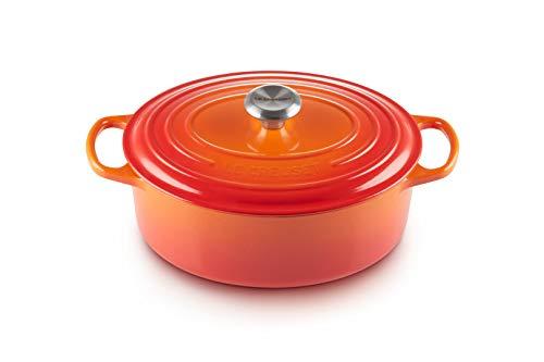 Le Creuset Enameled Cast Iron Signature Oval Dutch Oven, 6.75 qt., Flame