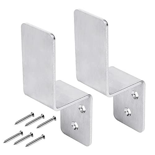 2 x 4 soportes de bloqueo de puerta en forma de Z para cerradura de puerta de seguridad resistente con barra abierta de caída para 2 x 4 madera (2)