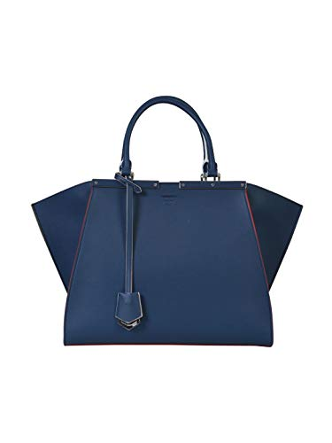 Luxury Fashion | Fendi Dames 8BH27981DF0KR1 Donkerblauw Leer Schoudertassen | Seizoen Outlet