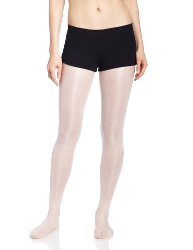 Capezio Women's Low Rise Boy Cut Short,Black,Small