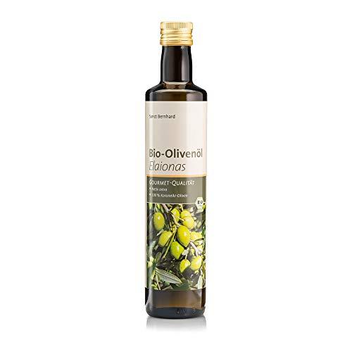 Sanct Bernhard Bio-Olivenöl Elaionas nativ extra, harmonische, fruchtig-intensive Aromen mit pikanten Nuancen im Abgang, Inhalt 500 ml