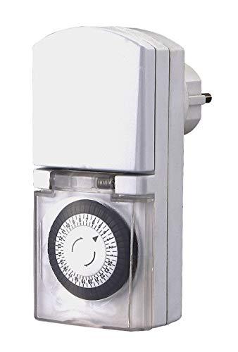 GAO IP44 Zeitschaltuhr für außen analog Tagesprogramm 3680 W