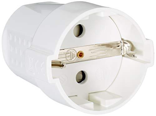 Silver Electronics 9261 Clavija Hembra con protección, Blanco