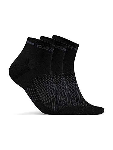 Craft Core Dry Mid 3er Pack Socken, black, EU 46-48