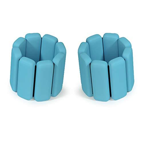yueydengsun Conjunto de pesas ajustables para el tobillo, correas de peso duraderas para la muñeca, 2 pulseras de yoga con peso para entrenamiento, ejercicio deportivo (azul)