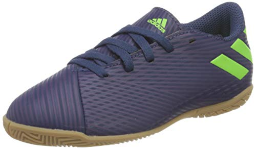 Adidas Nemeziz Messi 19.4 IN J, Zapatillas Deportivas Fútbol Unisex Infantil, Morado (Tech Indigo/Signal Green/Glory Purple), 32 EU