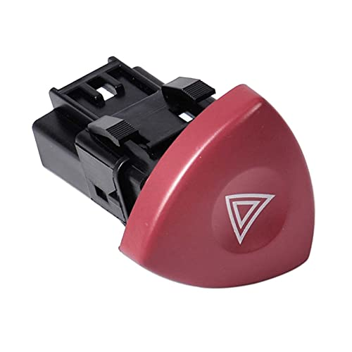 ZHANGJIN Botón Dash del Interruptor de Advertencia de Flasher de Emergencia 8200442724 Fit para Renault Escape Laguna Nissan Primastar Vauxhall