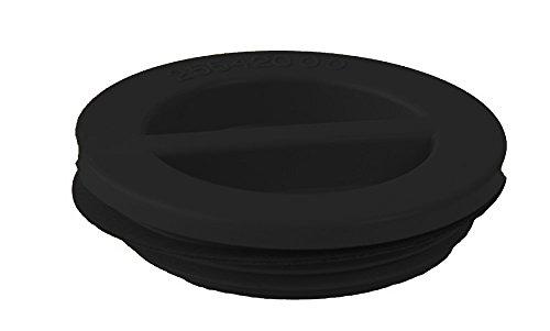 Custom 25542-004-000 3,81 cm MIP Flat Piscine Bouchon avec Joint - Noir