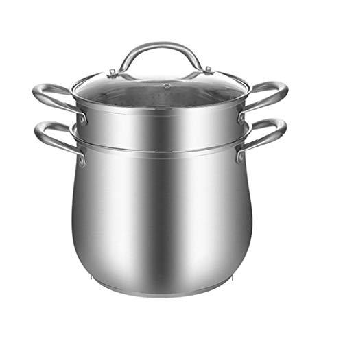WALNUTA Acero Inoxidable Cocina Engrosamiento del hogar y Profundización de la categoría alimenticia del Acero Inoxidable 304 Olla Pot Engrosamiento de los hogares de cocción de Doble Uso
