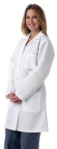 Medline MDT13WHT5E Ladies' Full-Length Lab Coat