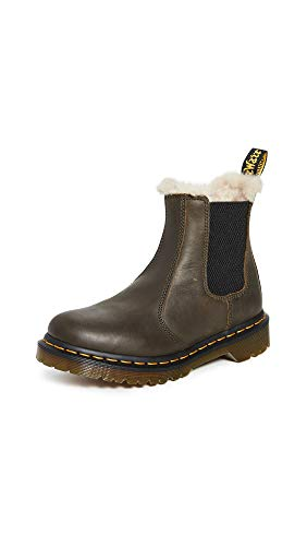 Dr. Martens Women's 2976 Leonore Chelsea Boots, Olive, Green, 9 Medium US