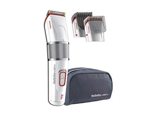 BaByliss E971E Mojado y seco Rojo, Plata, Color blanco depiladora para la barba - depiladoras para la barba (2,6 cm, 0,5 mm, 2,5 cm, Detailed styling, Rojo, Plata, Color blanco, AC/Baterry)
