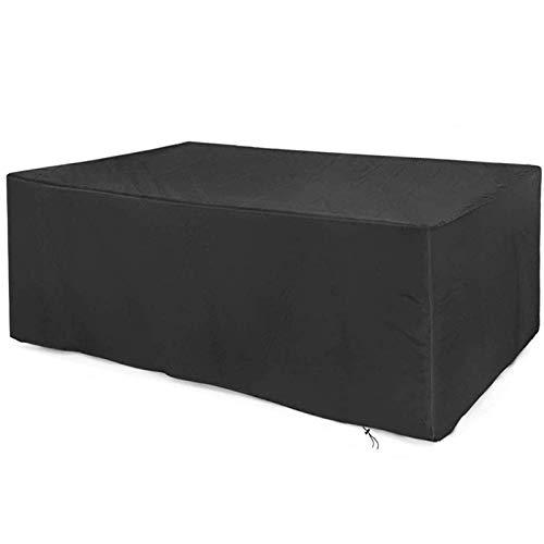 Funda para muebles de jardín Cyg, tela Oxford para patio al aire libre impermeable y a prueba de polvo para silla de jardín y cubierta de mesa a prueba de frío (tamaño: 315 x 180 x 74 cm)