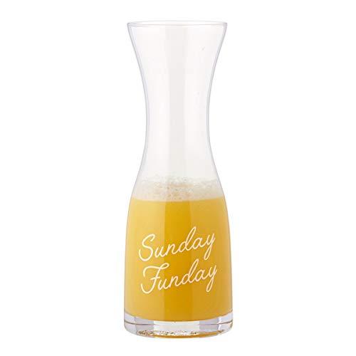 Decantador de jarra de vidrio Mimosa para cócteles con frases, 10 3/4 pulgadas