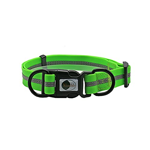 SWETIY Collar De Perro, Collar De Perro Duradero Y Reflectante Fabricado De Nylon Luminoso Y Impermeable, para Caminar Correr Perro Pequeño Y Cachorro