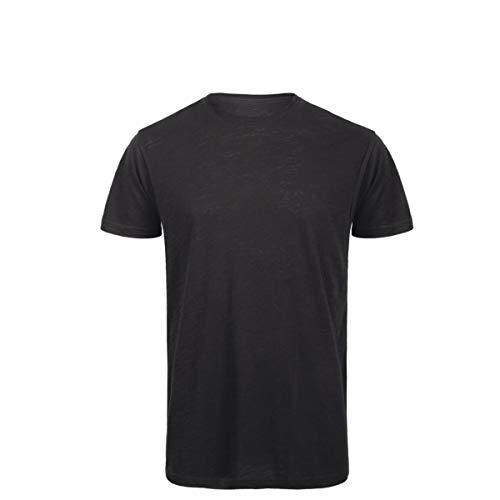 T-Shirt da Lavoro Uomo Maglia Cotone Fiammato Organico Slub Senza Etichetta B&C
