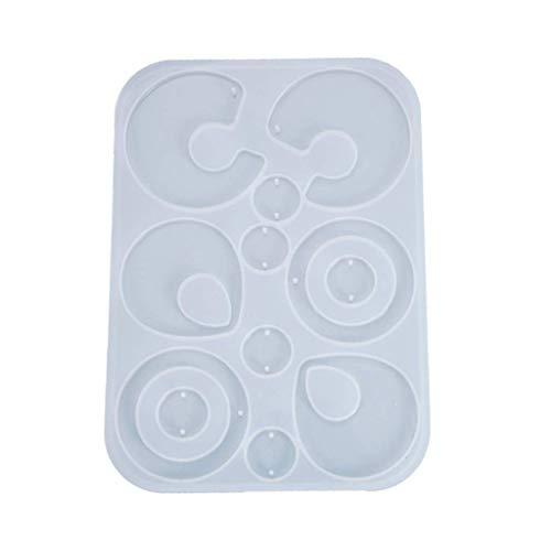DIY Pendientes colgantes molde de silicona para manualidades de joyería de cristal epoxi resina