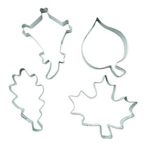 4er Set Blätter Drachen Ahorn Eiche Linde Ausstecher Ausstechform Blatt Deko