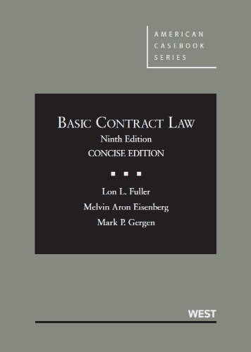 Basic Contract Law, 9th Concise Edition (American Casebook)
