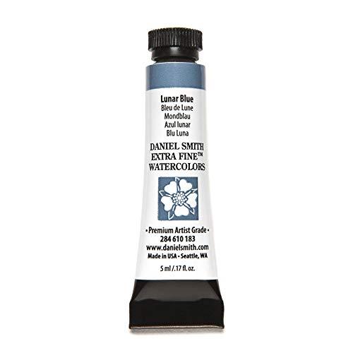 DANIEL SMITH, Lunar Blue 284610183 Extra Fine Watercolors Tube, 5ml