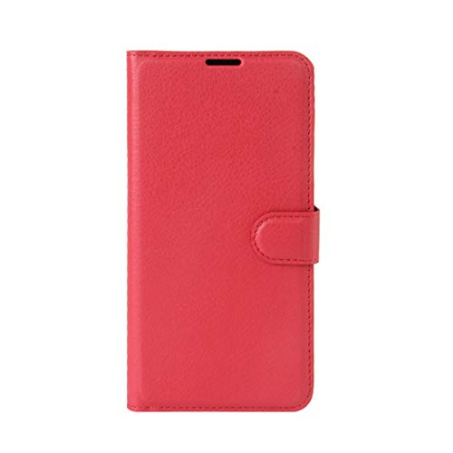 Phone case Lmy for Leagoo M8 Pro Litchi Texture Horizontal Flip Leather Case with Holder & Card Slots & Wallet (Black) (Color : Red)