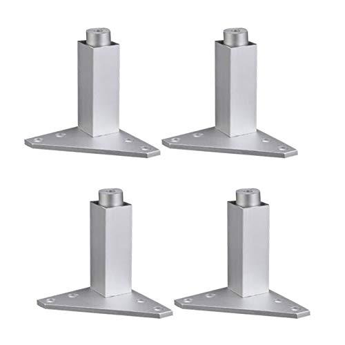 80mm Ajustable Plata aleación de aleación triángulo Base Muebles Patas gabinete sofá pies pies 4pcs