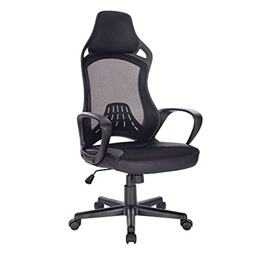 poltrona da ufficio ergonomica con poggiatesta e supporto lombare sedia da lavoro girevole regolabile (IGOR)