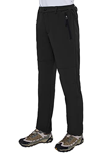 Women's Snow Ski Insulated Trousers Winter Cold Weather Hiking Pants Waterproof Windproof Fleece Lined Warm Ski Snow Insulated Pants (Black,2XL)