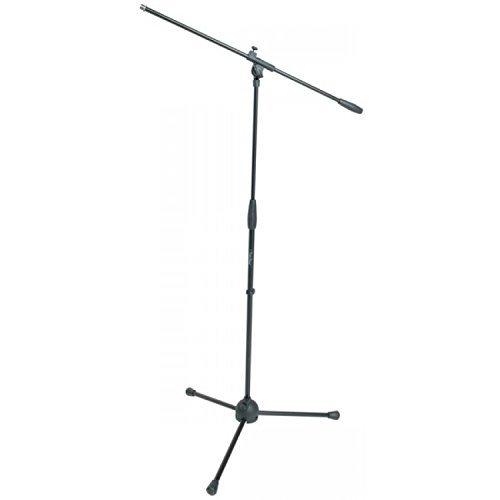Proel RSM180 - Asta Professionale per Microfono, treppiede con snodo a giraffa nylon, per karaoke e Live, Nero (RSM180)