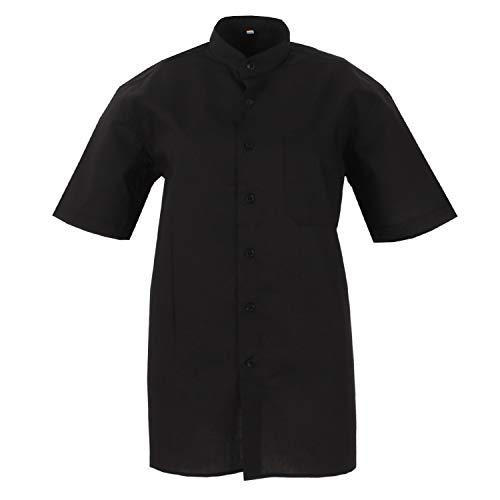 MISEMIYA - Camisa Uniforme Camarero Hombre Cuello Mao Mangas
