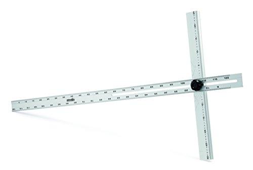Regla de aluminio de 120 cm con transportador de ángulo ajustable