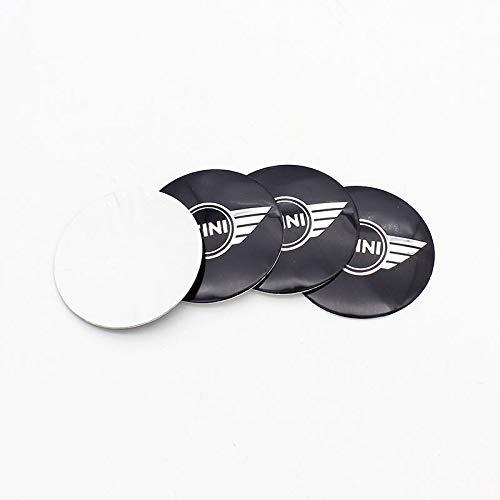 Tapas Para Llantas 4 unids 56 50mm Coche Logo Emblem Wheel Center Rim Hub Caps Capts Pegatinas Compatible con BMW Mini Cooper R56 R50 R53 F56 F55 R60 R57 Countryman Tapas de cubo de rueda